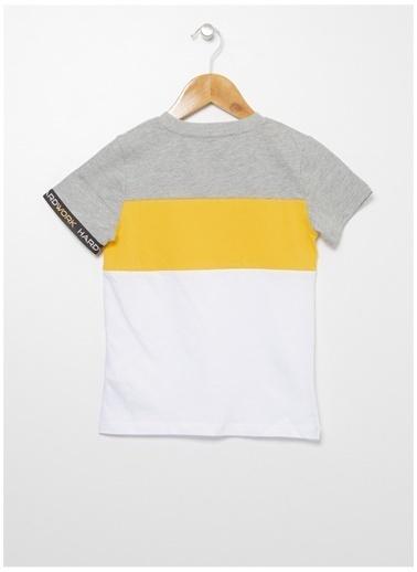 Limon Company Limon Erkek Çocuk Gri Sarı Bisiklet Yaka T-Shirt Gri